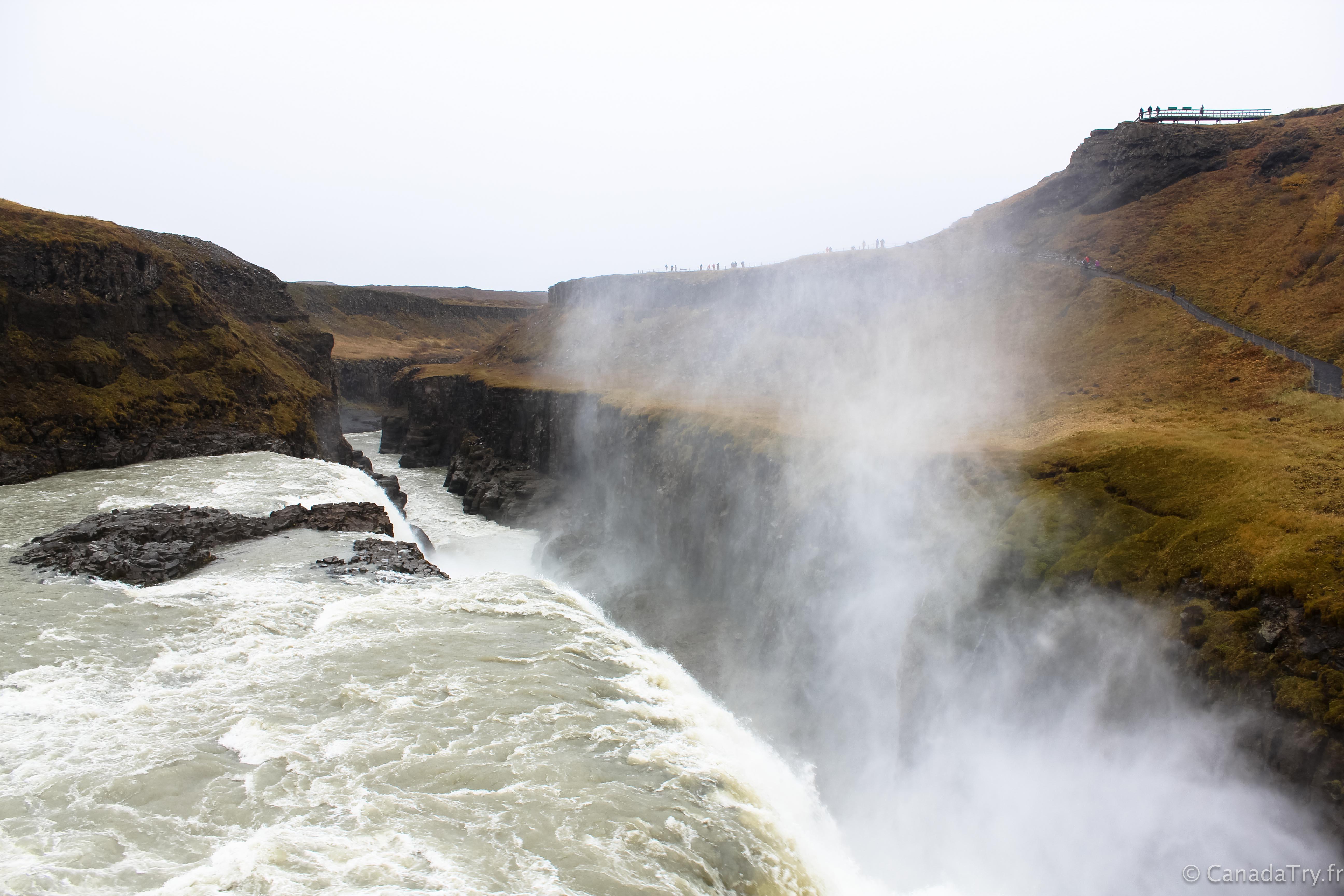 Une semaine en Islande #5 : à la découverte du Cercle d'Or – La chute d'eau de Gullfoss et le cratère de Kerið