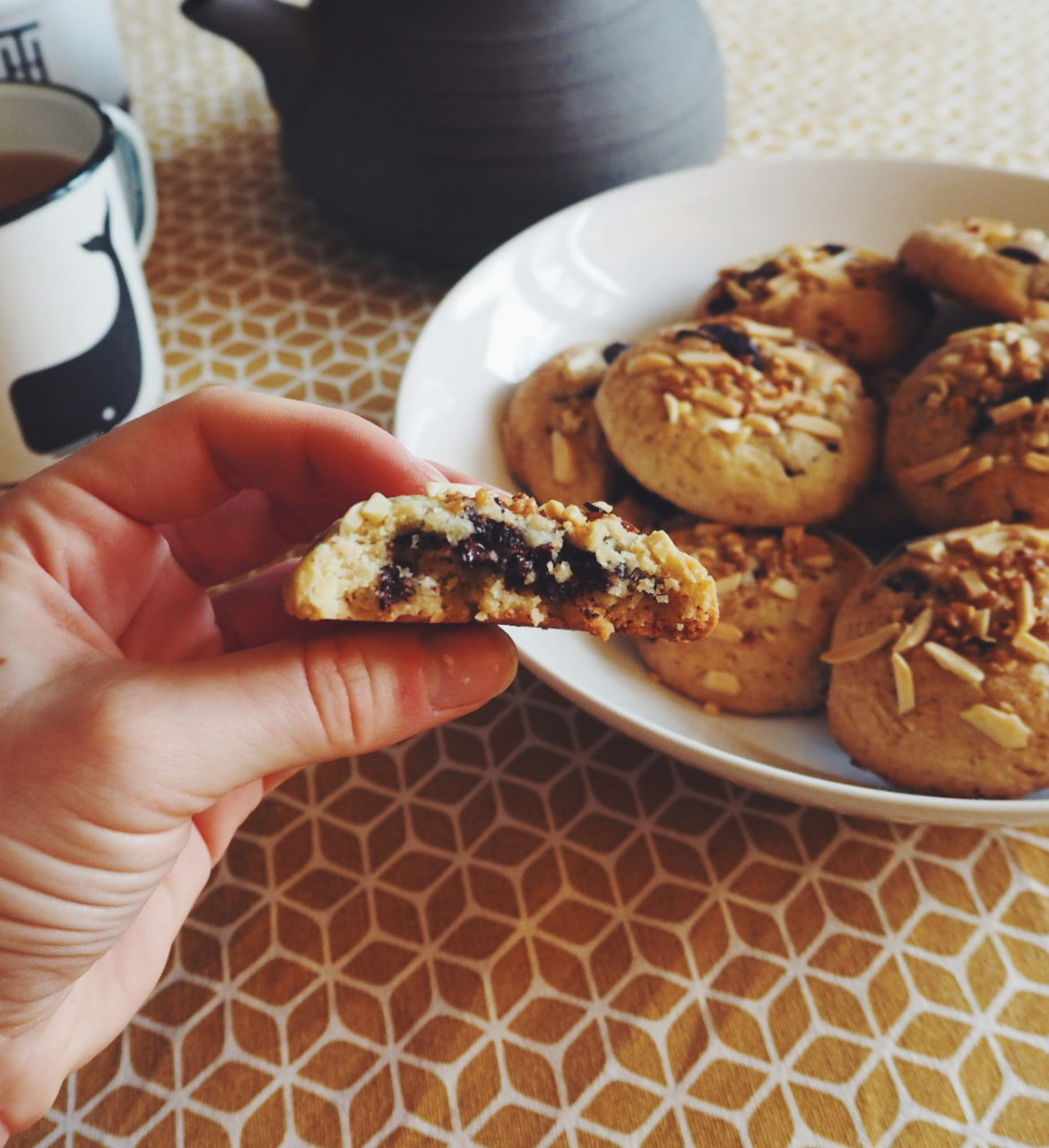 Recette facile de cookies coeur fondant au chocolat