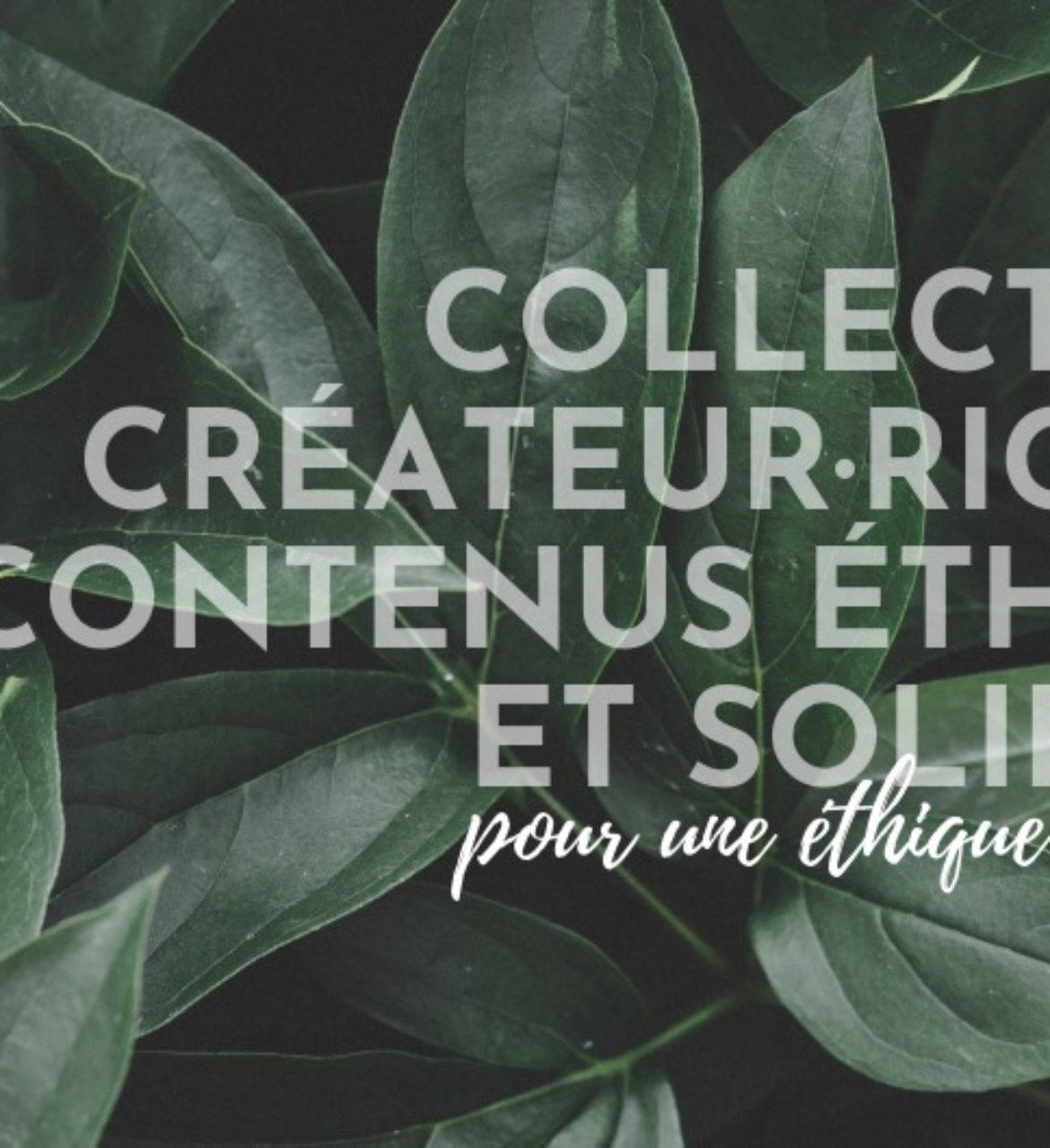 Charte d'engagement des créateur·rice·s de contenus éthiques et solidaires
